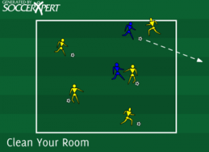 Soccer Warm Up Drill 1