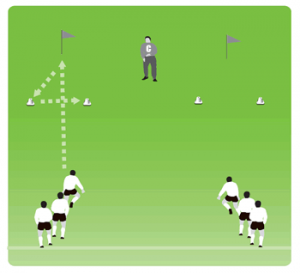 Soccer Warm Up Drill 8