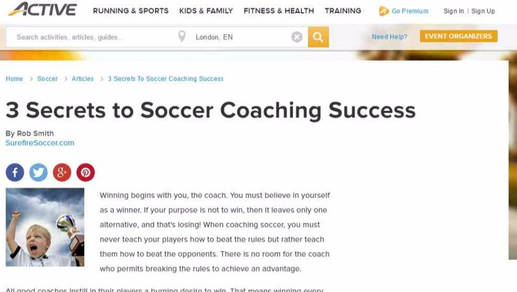 Youth Soccer Coaching Tips