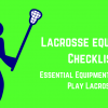 What equipment do you need to play lacrosse? Header image