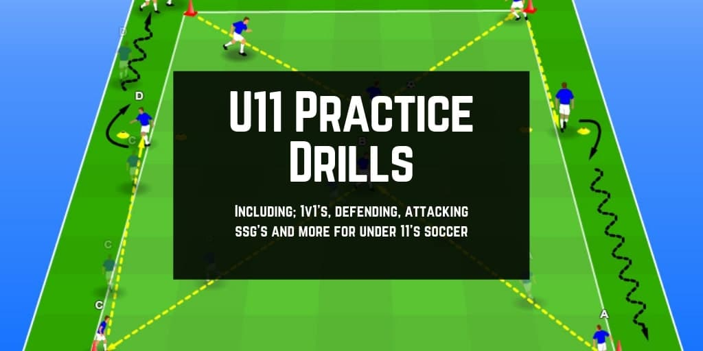 U11 Soccer Drills: 16 Practice Drills for Under 11's
