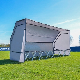Net World Sports: 8 Seater Team Bench + Shelter