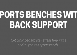 5 Sports Benches with Back Support