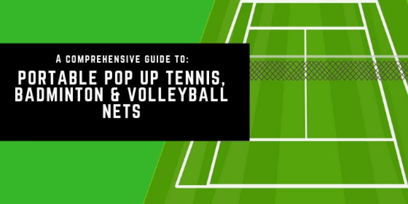 Portable Pop Up Tennis Net, Badminton & Volleyball Nets (UK)